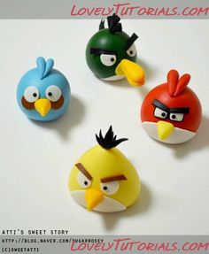 Angry Birds Tutorials for Cake or Clay