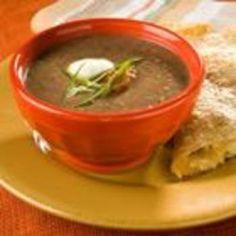 Black Bean and Salsa Soup