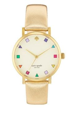 fashion, spade gold, style, accessori, york watch, gold patchwork, leather strap, jewelri, kate spade