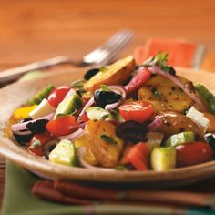 Grilled Greek Potato Salad Recipe from Taste of Home