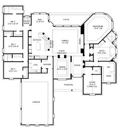 Floor Plans AFLFPW08381 - 1 Story Bungalow Home with 4 Bedrooms, 3 Bathrooms and 3,367 total Square Feet