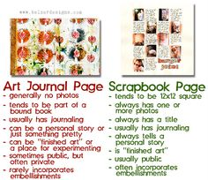 Art Journal Page vs. Scrapbook Page
