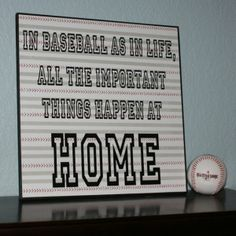 Cute, but I would substitute softball for baseball for my girls!!