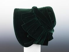 Evening Bonnet 1847, American, Made of silk