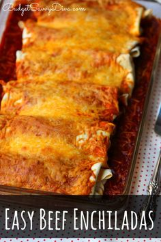 THE BEST Enchiladas RECIPE EVER!!! Everyone in your family will LOVE IT! MUST Pin and Make :) Easy Beef Enchiladas Recipe #enchiladas #beef #recipe #easyrecipe #budgetsavvydiva via budgetsavvydiva.com