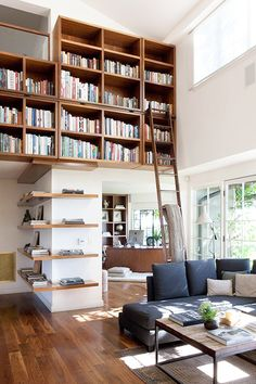 Love these bookshelves.