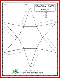 Hexagonal Based Pyramid net