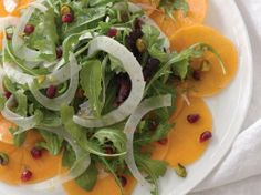 lemon honey, salad recip, pistachio salad, choos side, food, persimmon, honey vinaigrett, pomegranates, salads