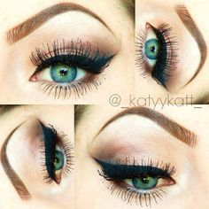 Everyday Look by Katyy C. Click the pic to get the how-to. #beauty #makeup #cateye #makeuphowto