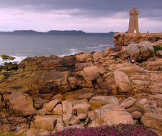 Brittany .France \\ Brittany's Pink Granite Coast