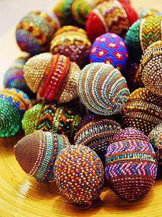 beaded eggs, bead ornament, local beadwork, easter eggs, bead work, africa, bead easter, beads work, bead egg