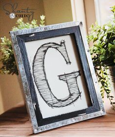 Free Printable Letters! These are 5x7 and so cute! Who doesn't love FREE? ... Love this. Now I just need to decide if I want it in the bedroom or entryway. Or living room.