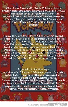 The never-ending love of Pokemon...