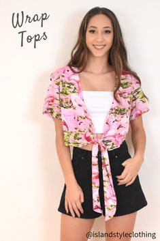 Ladies Wrap Top - Pink Flamingo - gorgeous cover for a music festival, flamingo party, cruise or casual. #flamingoparty #fashion #flamingoshirt #hensnight #cruisewear #partyshirts #bachelorette #springbreak #pinkshirt #festivalfashion #festivalshirt #musicfestival #ladieshawaiianshirt #hensshirt #hawaiianshirt #ladiesshirt #ladieshawaiianshirt #fancydress #uniform #luau #cruise #cruisewear #springbreak #barshirt #schoolies #luaushirt #luau #partyshirt #bacheloretteshirt #corporate #eventshirt