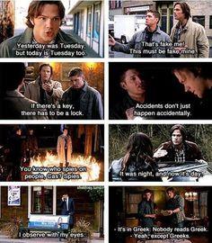 Supernatural logic… geek, supernatur, winchester boys, quotes, funni, dean winchester, fandom, key, logic