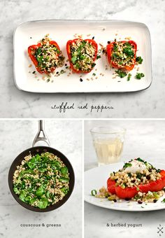 Couscous stuffed Red Peppers | Love and Lemons