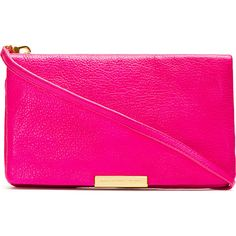 Marc by Marc Jacobs Pink Leather Raveheart Clutch found on Polyvore