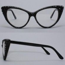 Black Cat Eye Glasses by Divalicious Jewelry.