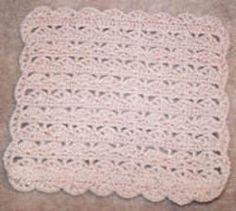 Use an H hook to create this wonderful easy #crochet pattern. It's the perfect style for a baby blanket or throw.
