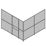 2 wall Woven Wire Mesh Partition, Security Cage