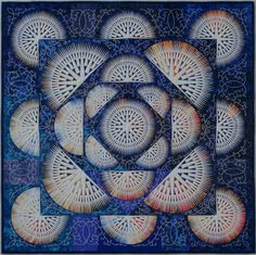 hiroko nakayama, traditional quilts, color blue, japanese quilts, grand prix
