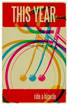 Bike poster #ride a bike #bicycle #ride #poster #print
