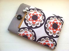 "iPad Mini Cover, Kindle FIre HD 7"" Case or Custom Sleeve with Pocket - Blossom. $29.99, via Etsy."