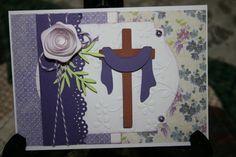 """He Is Risen"" Easter card using Cricut New Testament cartridge by Caroline Scranton"