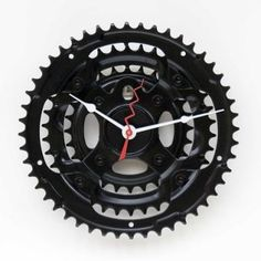 bicycles, badass bicycl, chain ring, clock, recycl bike