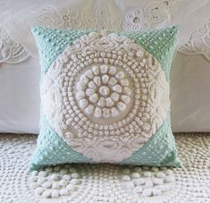 vintage chenille pillow cover WHITE TARGET. via Etsy.