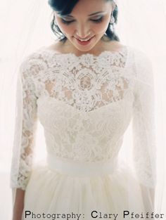 Featured in in the Style Me Pretty Fashion & Beauty Magazine 2013  Ivory Italian Laces Bridal lace top by angelikaliv