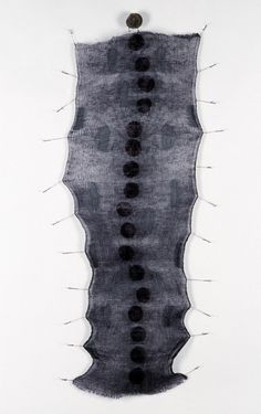 Mo Kelman | Making Seed, Gone To Seed, 2008 | shibori dyed and shaped silk, black walnut hulls