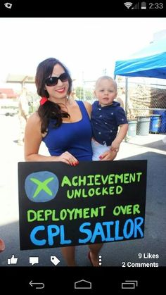 Deployment welcome home sign