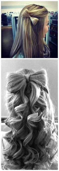 Bow Hairstyle this is going to look so cute in my daughters hair!