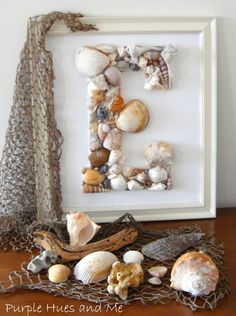 Seashell Monogram DIY | Purple Hues and Me
