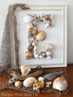 Seashell Monogram DIY | Purple Hues and Me