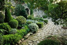 stone and green