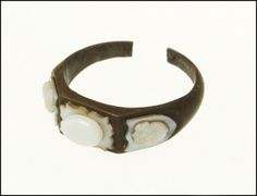 Inlaid Ring 1861, American, Made of wood and mother-of-pearl