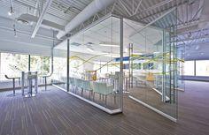 DIRTT. Ceilinged conference. dirtt idea, doors, glass pivot, galleries, pivot door, offic spacefurnitur, center pivot, dirtt environment, river