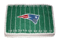 Patriots cake!   Football Birthday cake photos. The best football cakes on Pinterest and the best football cakes on the web! Football cake ideas such as Football Stadium cakes, football field cakes, football helmet cakes, and football logo cakes. #football #cakes #gifts