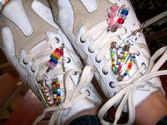 Friendship pins, my sneakers looked like this