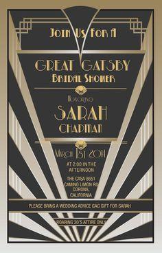 Great Gatsby Invitations  #greatgatsby #roaring20s #style