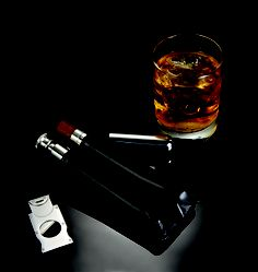 Keeps your favorite cigar and spirit close to your heart…or in your pocket.