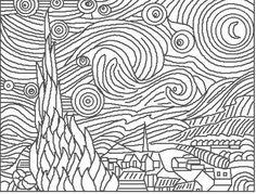 Fine Art Coloring Pages