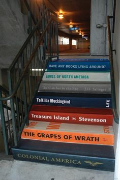 Books as stairs