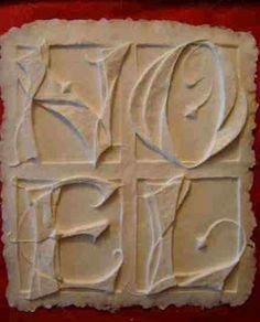 LetterDesignBlog: Choosing or adapting designs for paper casting Joan Merrell