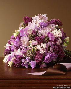 Amazing purple color bouquet