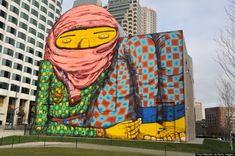 Os Gemeos in Boston in 2012 (Photo courtesy Paul Marotta/Getty Images)  3. ROA (Based in Belgium)