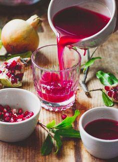 Pomegranate Juice / White On Rice Couple