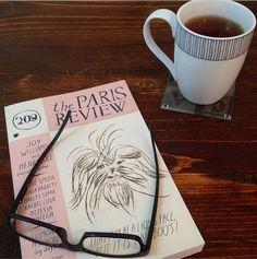 A little bit of Darjeeling Tea + a little bit of The Paris Review + a little bit of quiet on a rainy Sunday morning = a whole lotta bliss. #ReadEverywhere